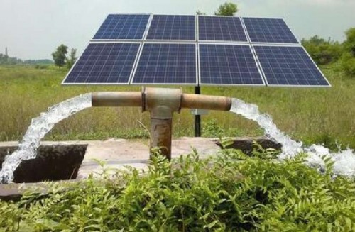 solar pumps and solar power plants for farmers