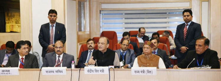 arun jaitley addressing a press conference on the 32nd gst council meeting