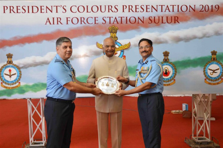 presentation of colors to air force station hakimpet and sulur
