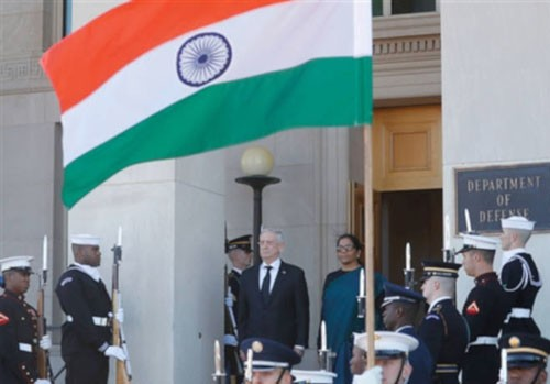 american defense minister receives grand reception of nirmala sitharaman