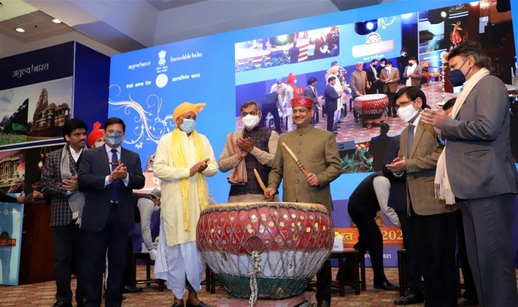 lok sabha speaker and tourism minister inaugurated bharat parv