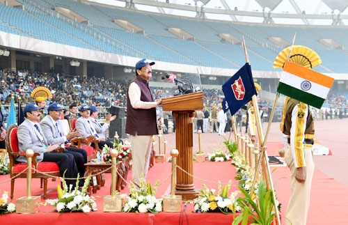 m. venkaiah naidu addressing the all india police athletic championship