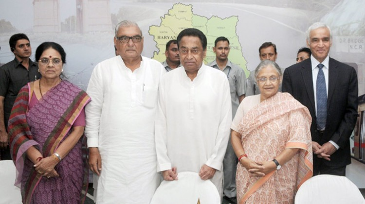 the union minister for urban development & parliamentary affairs, shri kamal nath, the union minister for housing & urban poverty alleviation, dr. girija vyas, the lt. governor of delhi, shri tejinder khanna, the chief minister of haryana, shri bhupinder singh hooda and the chief minister of delhi, smt