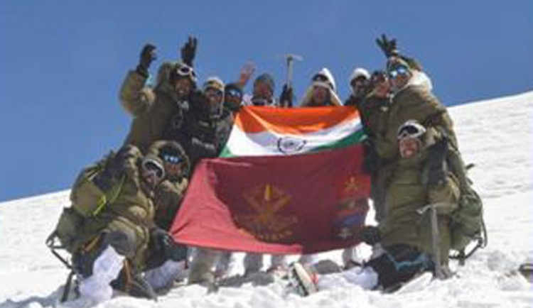 indian army conquers leo pargel mountain