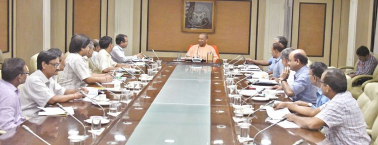 cm yogi adityanath reviewing the functions of the personnel and appointment department