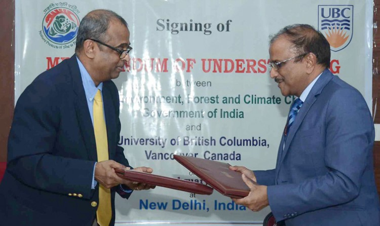 mou between ministry of environment and university of british columbia