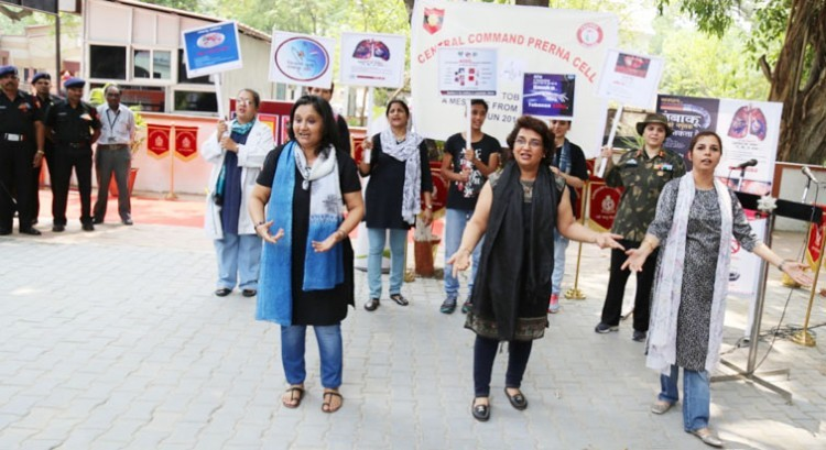 anti-tobacco awareness campaign, lucknow