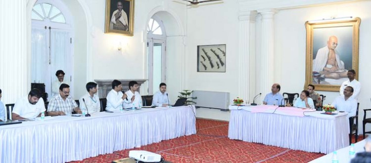 review of projects started in lucknow at raj bhavan
