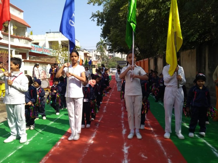 sports competition at kids camp school
