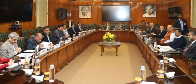 home minister's meeting with political parties and officials