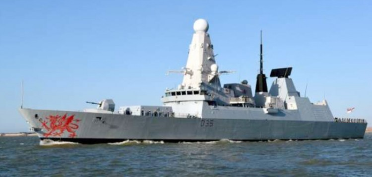 british warship hms dragon arrives in goa for naval exercise