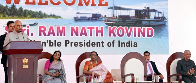 president laid the foundation stone of specialty hospital in kavaratti