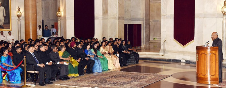 ias of 2017 batch met president ramnath kovind