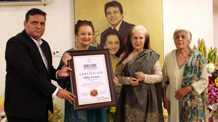 dilip kumar honored with world book of record