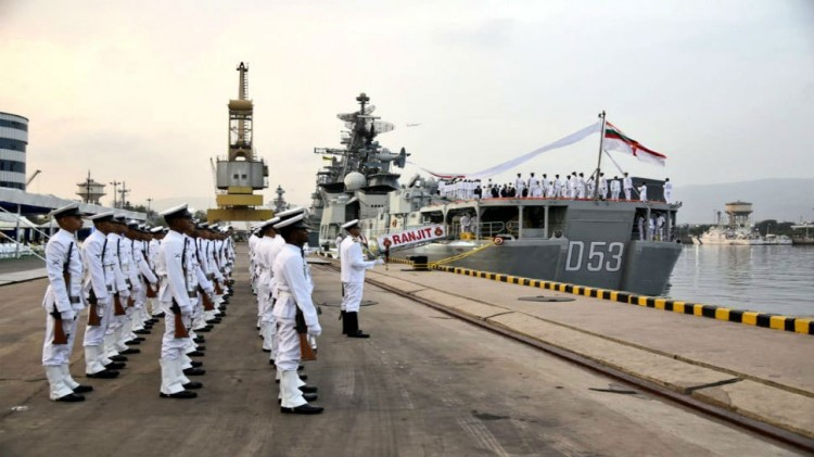 innovative farewell from ins ranjit's navy