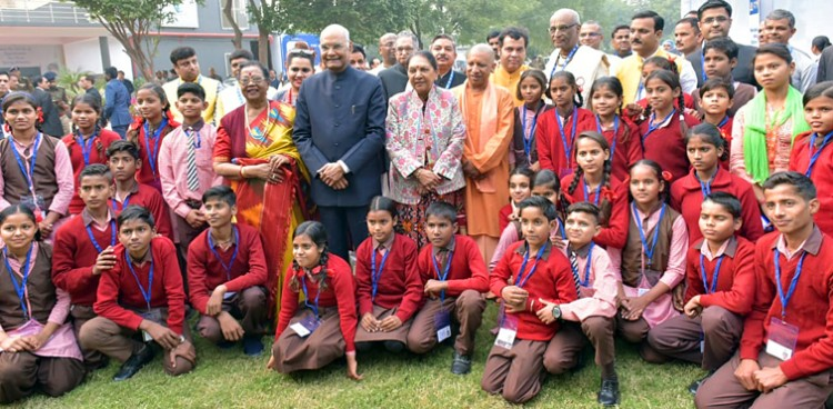 ram nath kovind at the akshaya patra foundation at vrindavan