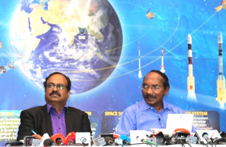 press conference held at isro headquarters in bangalore