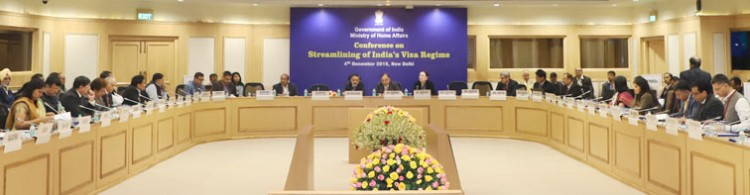 rajiv gauba chairing a conference on streamlining of india's visa regime