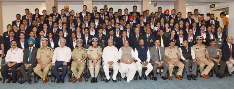 home minister with world police and fire games 2017 medal winners