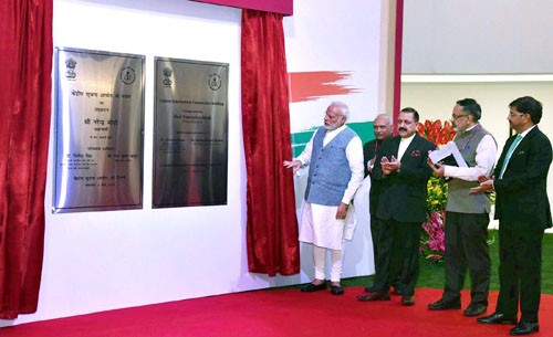 narendra modi inaugurates new building of central information commission