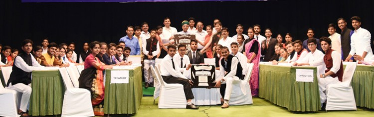 arjun ram meghwal in prize distribution function of the national youth parliament competition