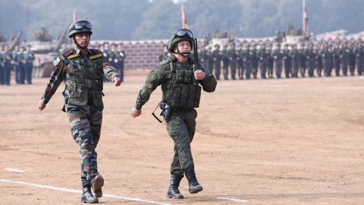 'indra' joint military exercises in india and russia