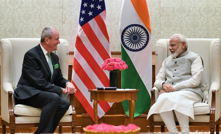 governor of new jersey meeting the prime minister narendra modi