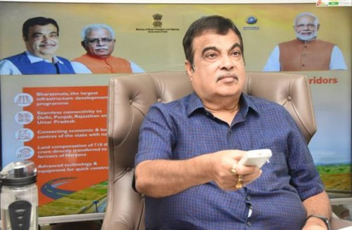 highway minister nitin gadkari inaugurated and laid foundation stone