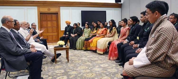 narendra modi addressing the officer trainees of indian foreign service