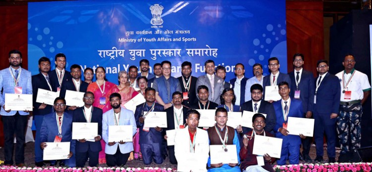 kiren rijiju conferred national youth awards