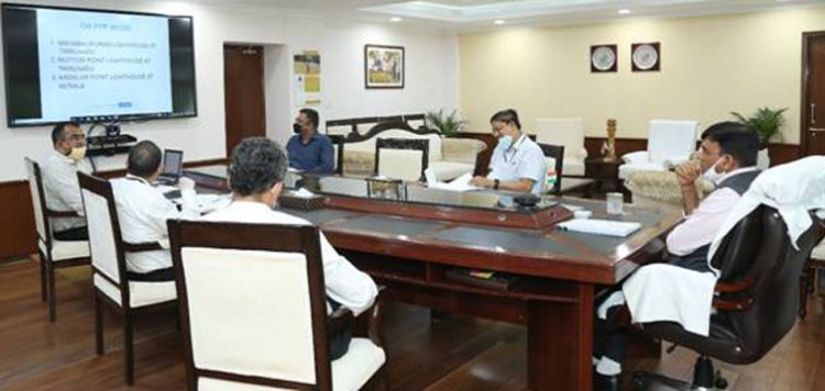 high level meeting of minister of state for shipping mansukh mandavia