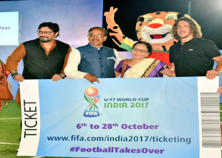 fifa u-17 world cup, first ticket given