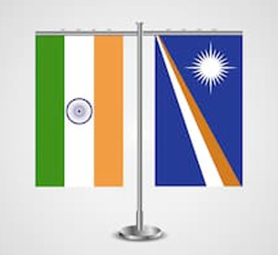 india and marshall islands flag
