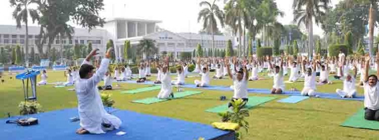air headquarters allahabad, yoga day