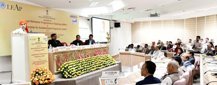 dr. satya pal singh addressing at the launch of the arpt and leap programme