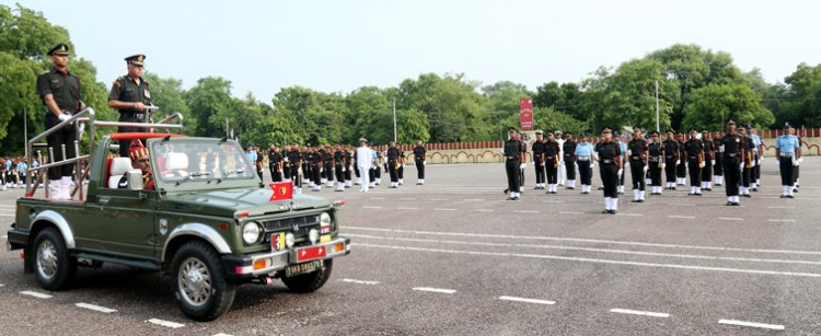 grand ritual parade at the training college of lucknow cantonment