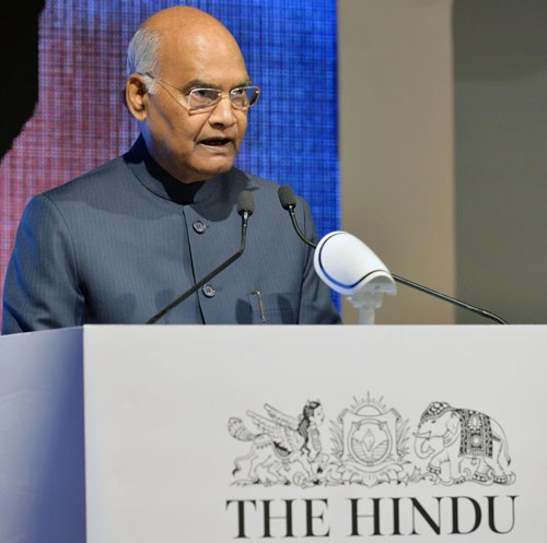 ram nath kovind addressing the annual thought conclave of the hindu