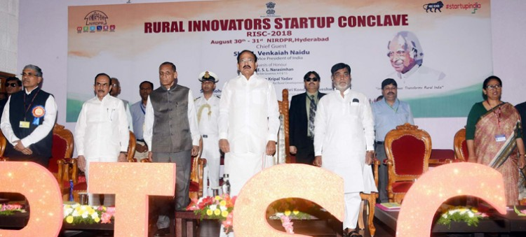 venkaiah naidu at an event to inaugurate the rural innovators startup conclave