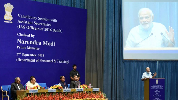 narendra modi addressing the valedictory session of assistant secretaries