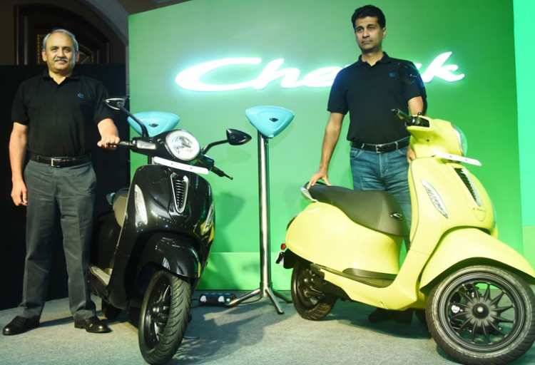 bajaj's electric chetak scooter launch