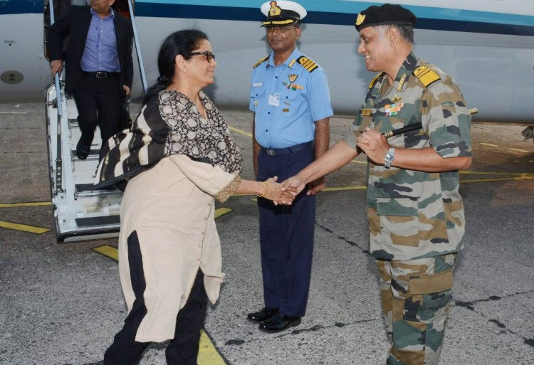 defense minister's visit to port blair