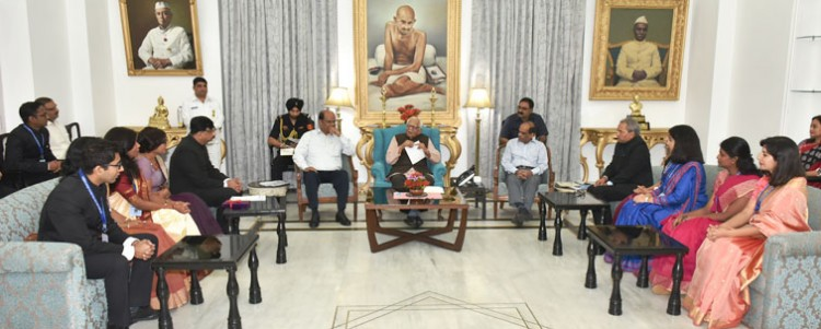 ias and ifs trainee officer met governor ram naik
