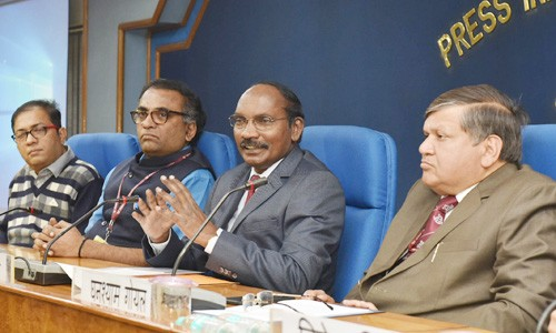 isro chairman dr. k. sivan addressing the press conference