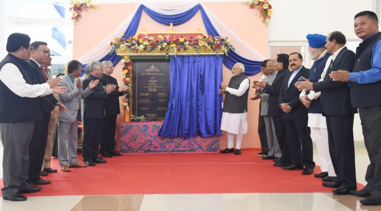prime minister narendra modi handed over the country to pakyong airport
