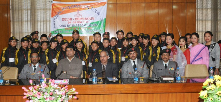 rpn singh with the 25 students of economically backward areas of manipur