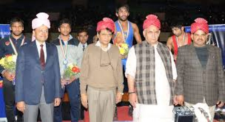 suresh prabhakar prabhu in opening ceremony of national wrestling championships