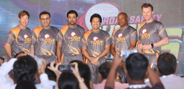 cricket players road safety world series