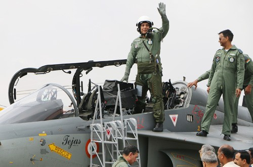 rajnath the first defense minister to fly in tejas