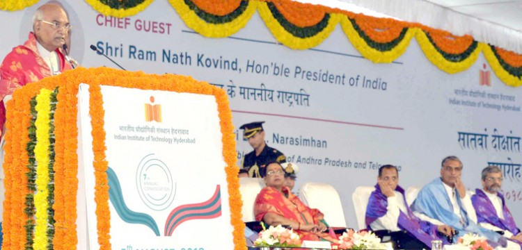 president ramnath kovind address in the convocation of iit hyderabad