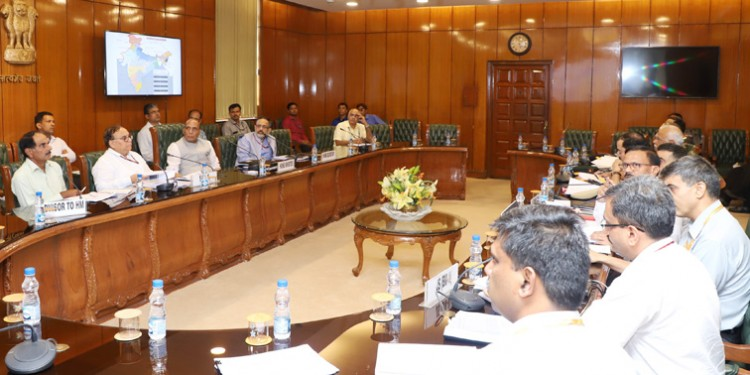 rajnath singh at a review meeting of the border management division